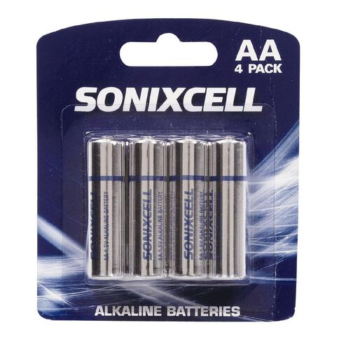 Sonixcell Battery AA Alkaline 4 Pack