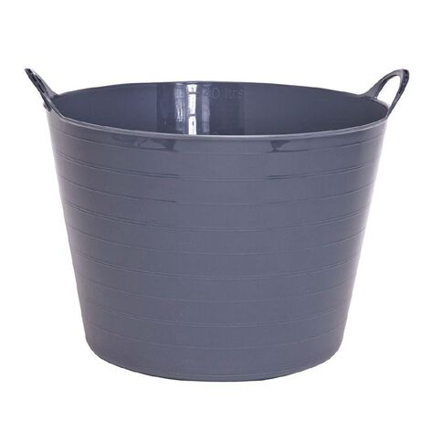 Taurus Flexi Tub Round Charcoal 40L