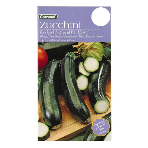 Carnival Blackjack Courgette Vegetable Seeds
