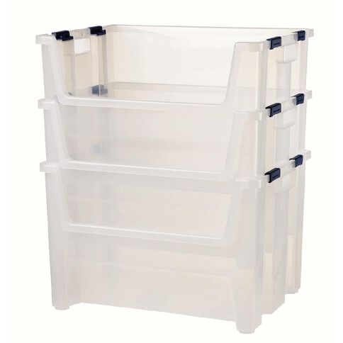 Taurus Pack 'n Stack Clear 50L