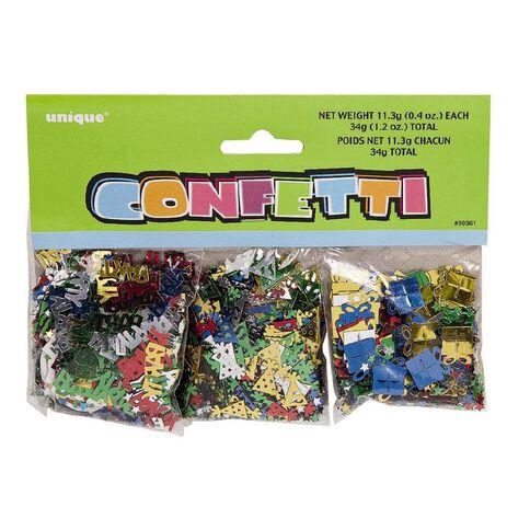 Unique Confetti Birthday 3 Pack