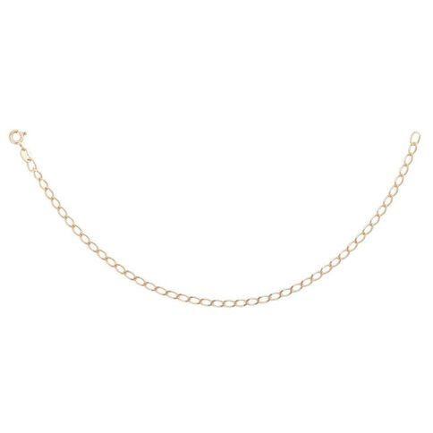 9ct Gold Open Curb Bracelet 19cm