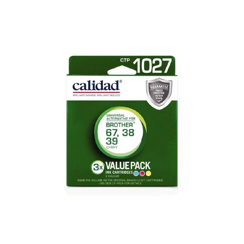 Calidad Brother Ink LC39+38/67 3 Pack