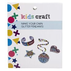 Kids' Art & Craft Make Your Own Glitter Pendants
