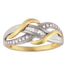 9ct Gold Diamond Fancy Baguette Ring