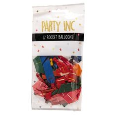 Party Inc Rocket Balloons 12 Pack