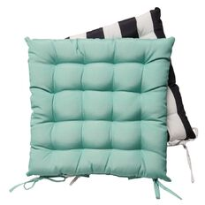 Living & Co Outdoor Chair Pad 2 Pack Teal 43cm x 43cm