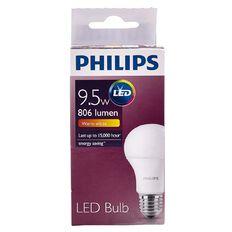 Philips LED Bulb 9.5-60W E27 3000K 230V A60 AU/PF Warm White