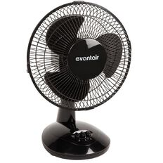Evantair Desk Fan Black 23cm