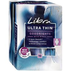 Libra Pad Goodnights Ultra Thin Wings10 Pack