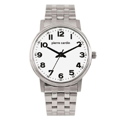 Pierre Cardin Stainless Steel Case with White Dial Watch