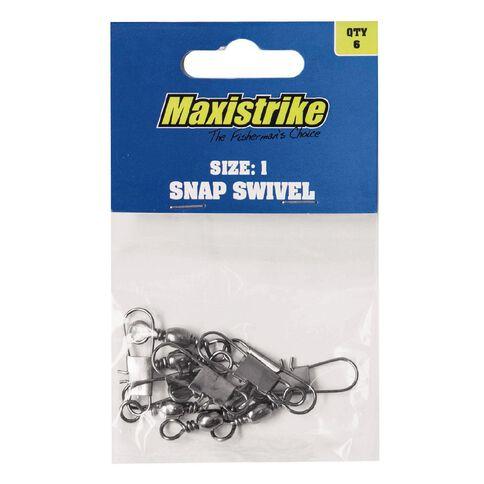Maxistrike Fishing Swivel Barrel Snap N1 4 Pack