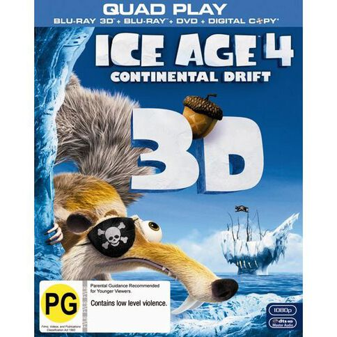 Ice Age 4 Blu-ray 3D Bluray/DVD 3Disc