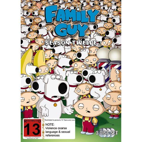Family Guy Season 12 DVD 3Disc