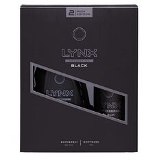 Lynx Black Body Wash + Body Spray Duo Gift Set