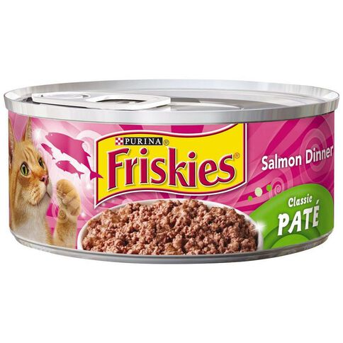 Friskies Classic Pate Salmon Dinner Wet Cat Food 156g