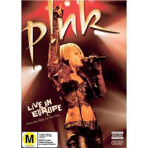 Pink Live In Europe DVD