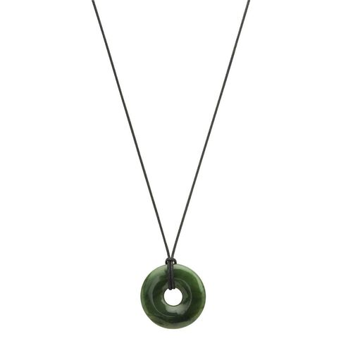 Jade Round Pendant with Cord