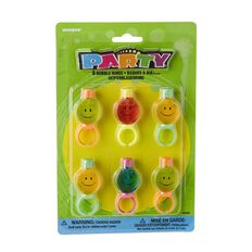 Unique Party Favours Bubble Rings 6 Pack