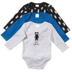 Hippo + Friends Baby Boy Bodysuit 3 Pack