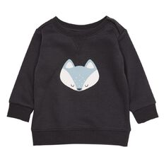 Hippo + Friends Baby Boy Print Front Sweatshirt