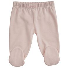 Hippo + Friends Baby Girl Footed Fleece Pants