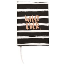 Paper Scissors Rock Notebook Hardcover Black White A6