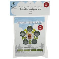 Kai Carrier Reusable Food Pouches 300ml 5 Pack