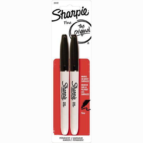 Sharpie Permanent Fine Marker 2 Pack