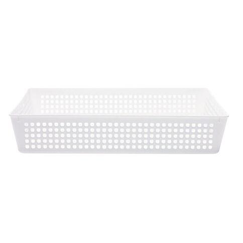 Taurus Plastic Basket Tray White Large