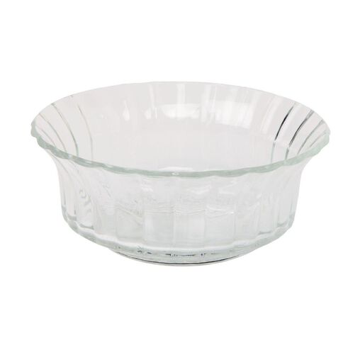 Necessities Brand Glass Bowl Fluted 22cm