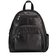 Debut Patch Leather Large Backpack