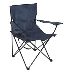 Necessities Brand Folding Camping Chair Blue