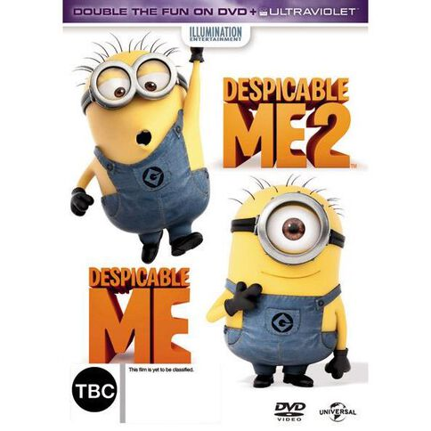 Despicable Me 1 and 2 DVD 2Disc