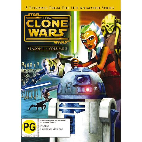 Star Wars The Clone Wars Volume 2 DVD 1Disc