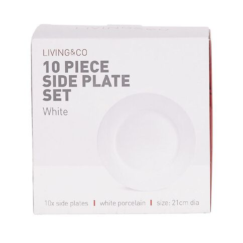 Living & Co Side Plate Set 10 Piece White