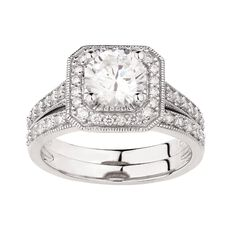 Brilliance Sterling Silver CZ Sparkling Bridal Ring
