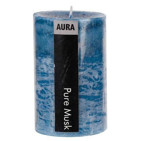 Aura Pillar Candle Pure Musk 6cm x 10cm
