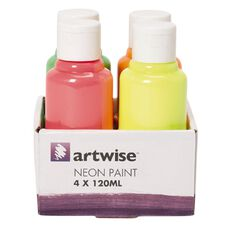 Artwise Paint Neon 120ml 4 Pack