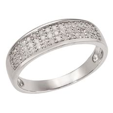 1/4 Carat of Diamonds Sterling Silver Diamond Grain Set Ring