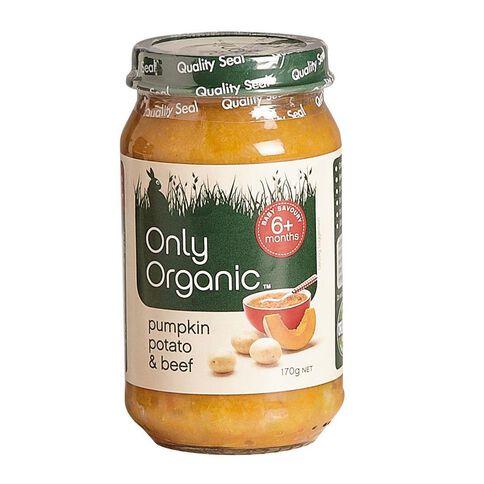 Only Organic Pumpkin Potato & Beef 170g