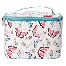 Colour Co. Toiletry Bag Train Case Blue Butterfly