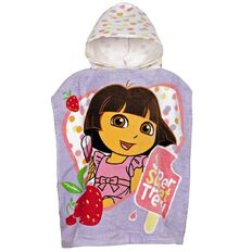Dora The Explorer Hooded Beach Towel Sweet Treats 50cm x 115cm