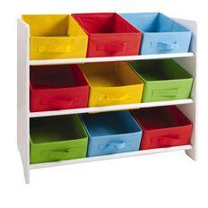 Kids Caboodle Storage Unit 9 Bin Bright/White Rainbow