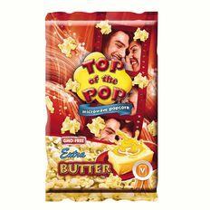 Top of the Pops Microwave Popcorn Extra Butter 100g