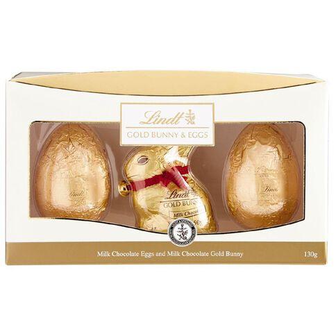 Lindt Gold Bunny & Eggs 130g