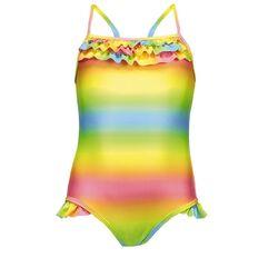 Beach Works Girls' Rainbow Swimsuit