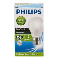 Philips Eco30 Bulb 105W B22 A55 Frosted
