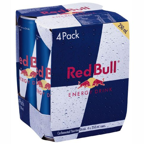 Red Bull Cans 250ml 4 Pack