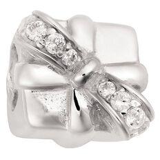 Ane Si Dora Sterling Silver CZ Present Charm